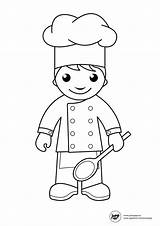Chef Coloring Pages Getdrawings sketch template