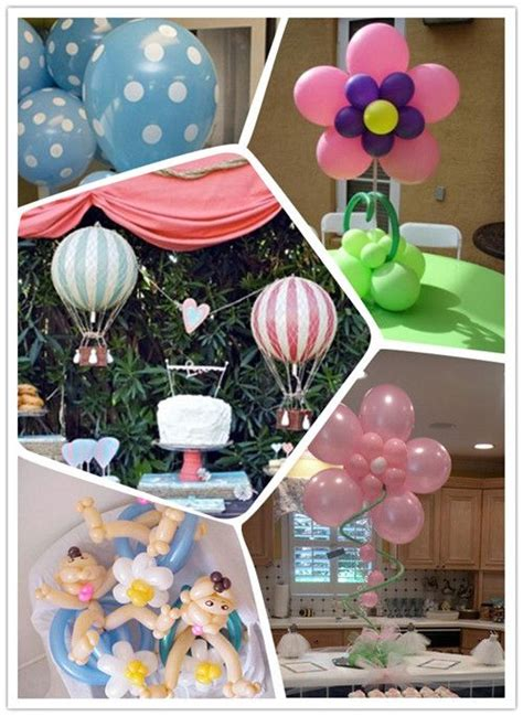 baby shower centerpieces with balloons balloon baby shower centerpiece ideas baby shower ideas pinterest