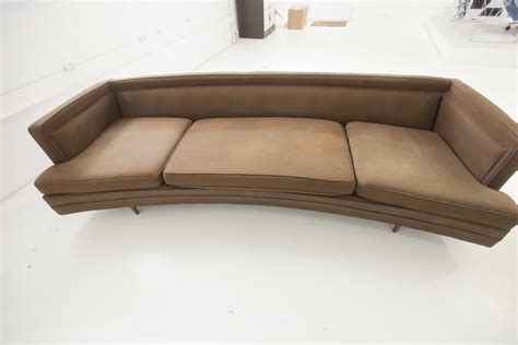 sofa craigslist found vintage leather chesterfield