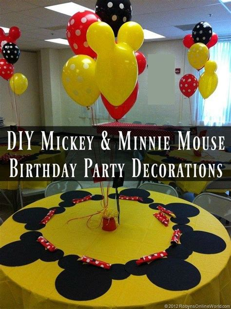 diy mickey mouse  minnie mouse party decorations