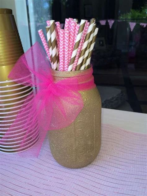 bridal shower pink gold birthday party ideas 2178117