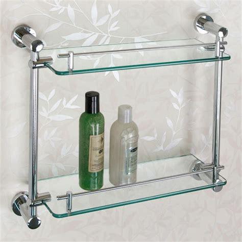 bathtub wall ceeley tempered glass shelf two shelves bathroom