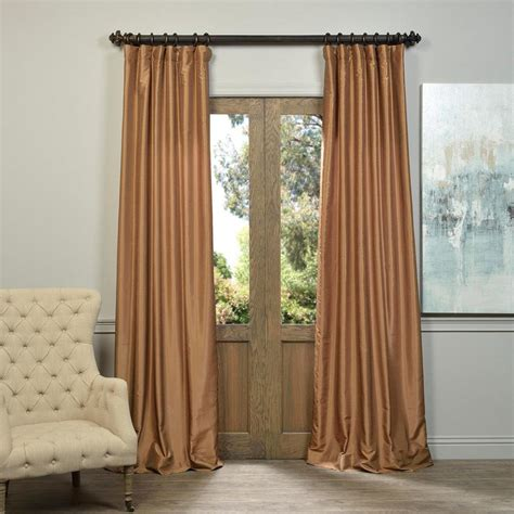 Silk Drapes by Exclusive Fabrics Furnishings Semi Opaque Flax Gold