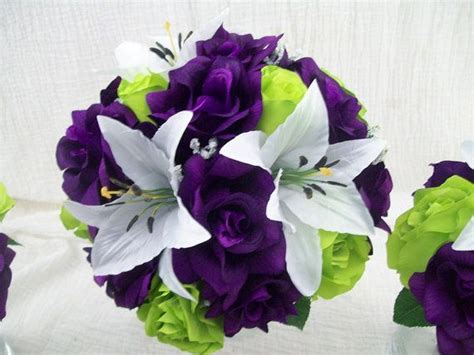 purple lime green  apple green roses  white tiger