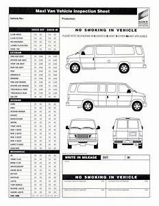 6 Best Images Of Commuter Van Damage Inspection Diagram