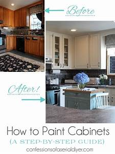 how to paint kitchen cabinets a step by step guide With best brand of paint for kitchen cabinets with wall art logo