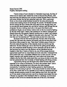 Gcse english descriptive essay