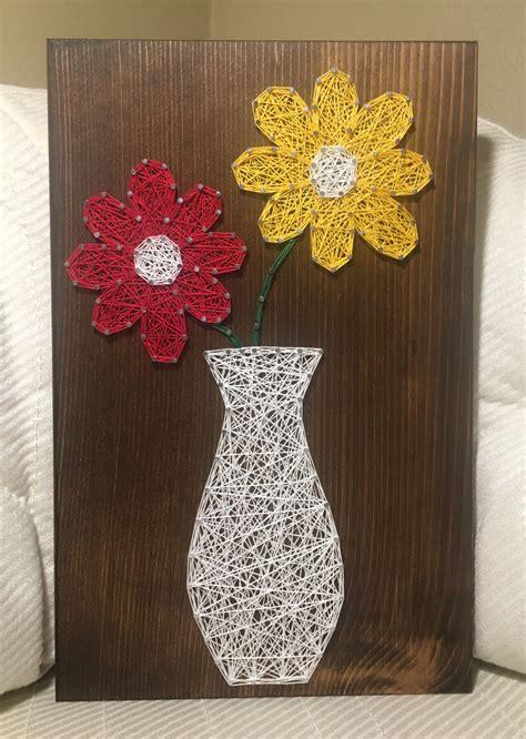 flower bouquetvase string art daisies daisy floral