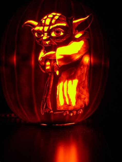 yoda pumkin 47 awesome movie pumpkin decor and carving ideas digsdigs