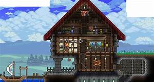 Grand house by the lake! : Terraria