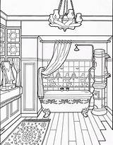 Coloring Victorian Pages Bathroom Adult Colouring Drawing Furniture Houses Printable Books Sheets Modern Interior Homes Line Taylor Mary Getdrawings Coloringpagesfortoddlers sketch template