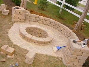 Feuerstelle aus granitsteinen selber bauen nowaday garden for Feuerstelle garten mit dach balkon selber bauen