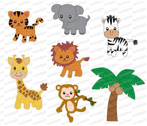 jungle animals  digital clip art set