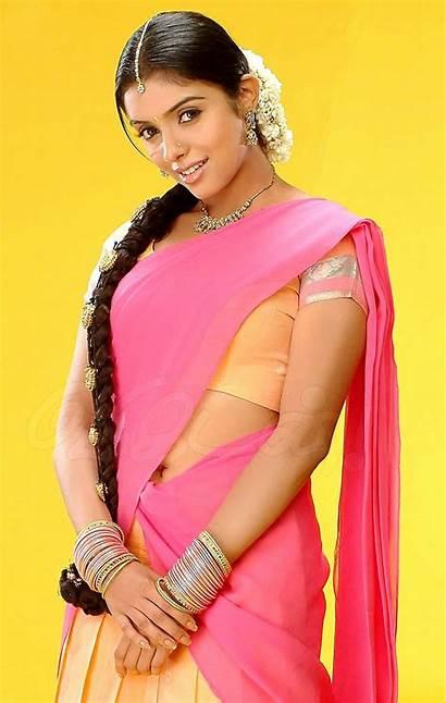 Navel Tamil Asin Actress Aju Saree