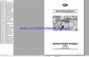 Land Range Rover Evoque Lhd Electrical Wiring Diagrams Manual Vin 856580 11