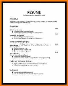 Gallery of high school student resume examples first job for First time job resume for high school student