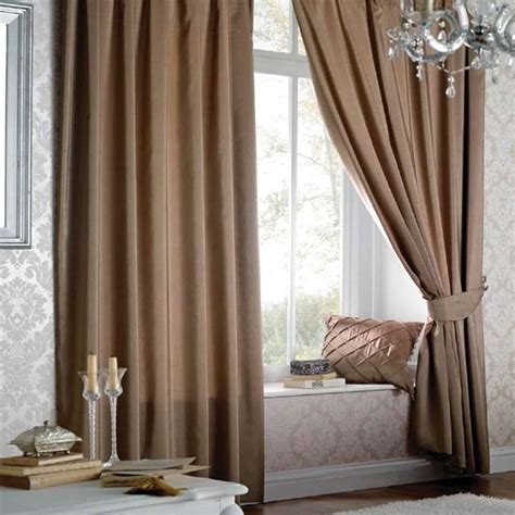 catherine lansfield home faux silk pencil pleat lined