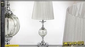 Lampe De Salon Design Sur Pied : lampe de salon de style r tro avec pied effet cristal et chrome ~ Melissatoandfro.com Idées de Décoration