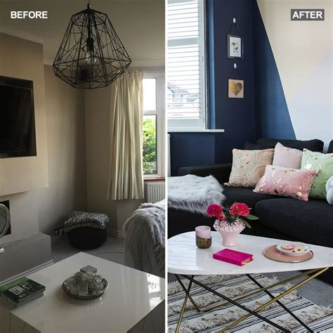 Living Room Makeover by Before And After See How This Bland Living Room Has Been