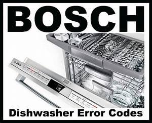 Bosch Dishwasher Error Codes - How To Clear
