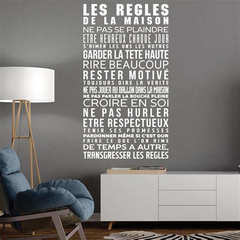 stickers regles de la maison sticker les r 232 gles de la maison stickers citations fran 231 ais ambiance sticker