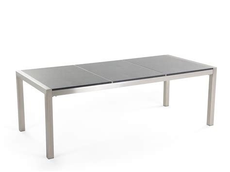 outdoor dining table for 8 polished gray granite grosseto