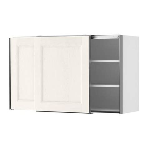 Ikea Sliding Door Cabinet by Faktum Wall Cabinet With Sliding Doors Ramsj 246 White