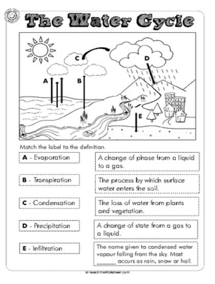 images  water cycle water cycle worksheet middle water
