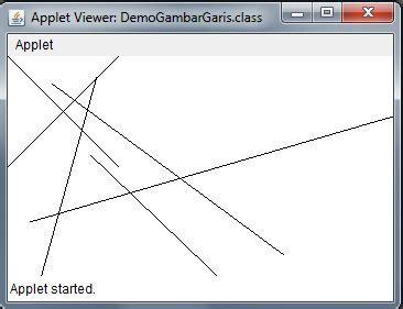 program menggambar beberapa garis dengan menggunakan bahasa java grup kuliah