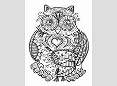Owl Coloring Page from Thaneeya McArdle's Groovy Owls
