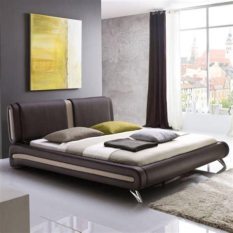 Polsterbett Komplett Malin Bett 180x200 Braun + Lattenrost