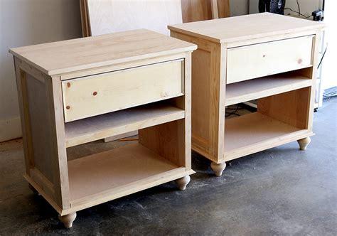 build diy nightstand bedside tables