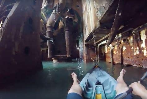 video takes    abandoned shipwreck  romania