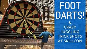 Foot Darts & Crazy Juggling Trick Shots - YouTube