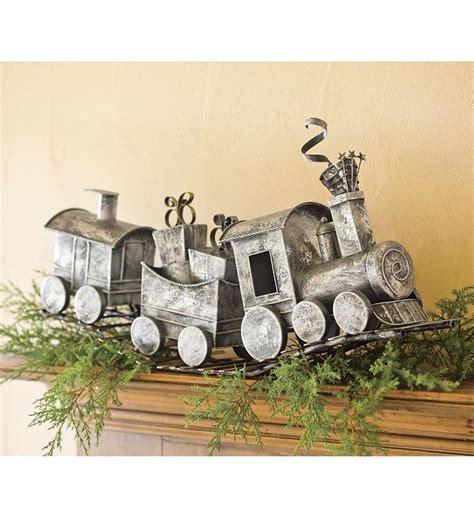 holiday metal train home  art  home decor holiday