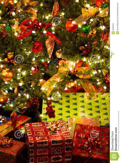 gifts under christmas tree stock photo image of celebrate