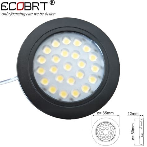 Ecobrt Dimmable 12v Led Spot Light Black Recessed Round