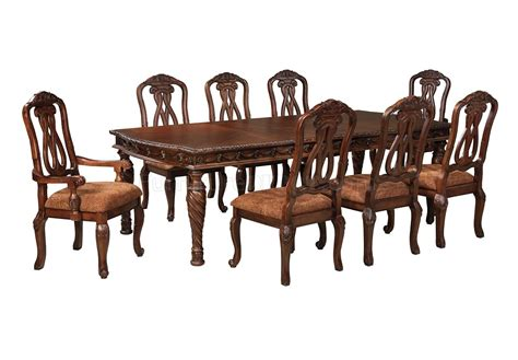 north shore dining table   dark brown  ashley furniture
