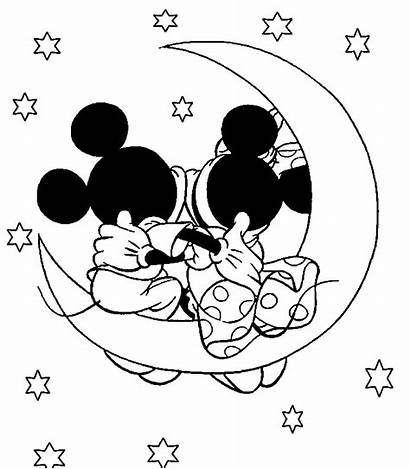 Mickey Valentine Coloring Minnie Pages Valentines Mouse
