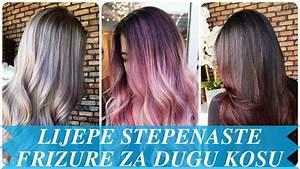 Lijepe stepenaste frizure za dugu kosu - YouTube