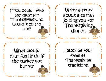 story starters for middle school students thanksgiving story 60 thanksgiving writing prompts and story starter task cards by klever kiddos