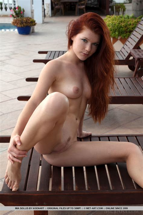 Sexy Mia Sollis Posing Naked On The Sun Loungers Of