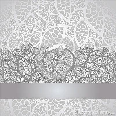 luxury silver leaves lace border  background