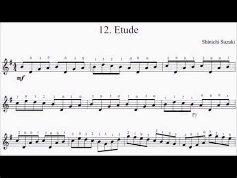 Etude Suzuki by Suzuki Violin Book 1 No 12 Etude Sheet