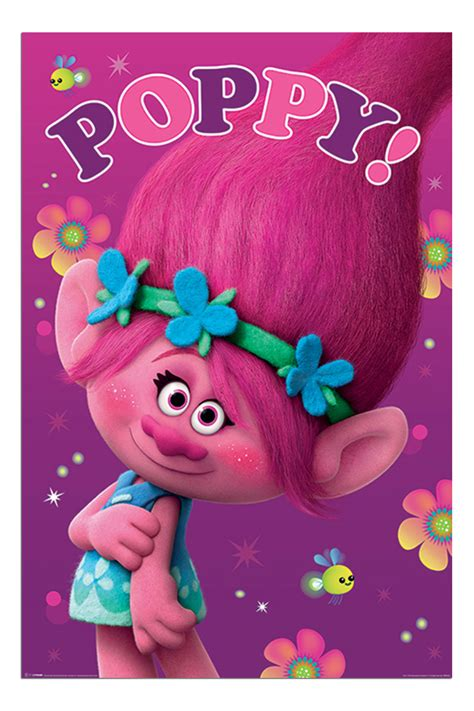 poppy trolls kostüm trolls poppy dreamworks poster new maxi size 36 x 24 inch ebay