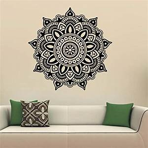 allywit mandala flower indian bedroom wall decal art With indian wall decor