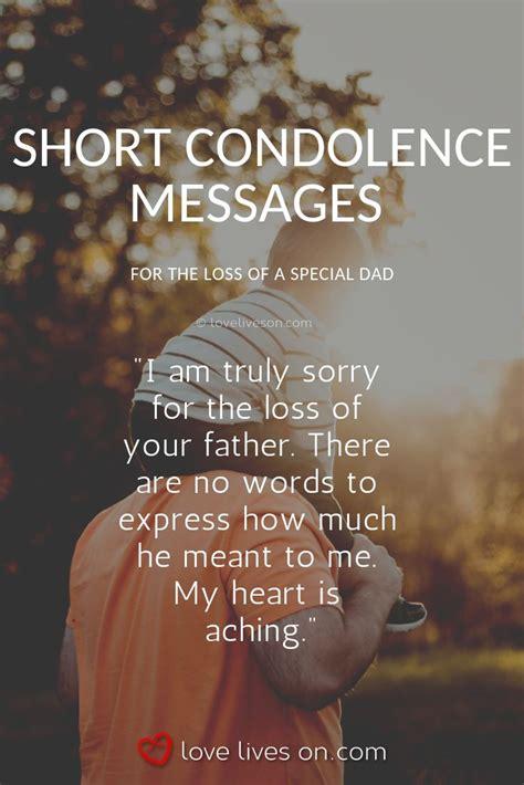 Condolence Message Sample