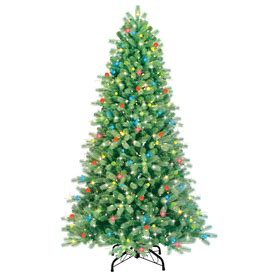 martha stewart pre lit christmas tree replacement kit shop ge 7 ft pre lit spruce artificial tree with multicolor lights at lowes