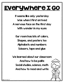 kindergarten graduation end of the year poem and labels by 426 | original 3079206 2
