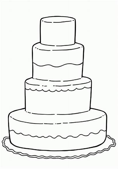 Cake Coloring Pages Decorating Birthday Decorate Printable